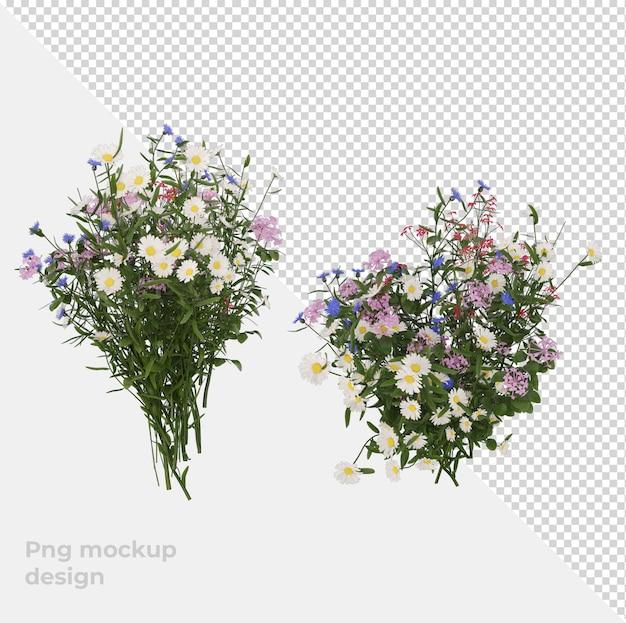 Цветок 3d рендеринг интерьера