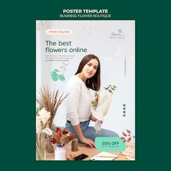 Modello di poster di affari boutique di fiori