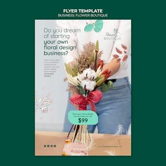 Flower boutique flyer template