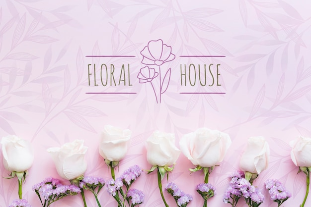 Flower boutique house and white flowers
