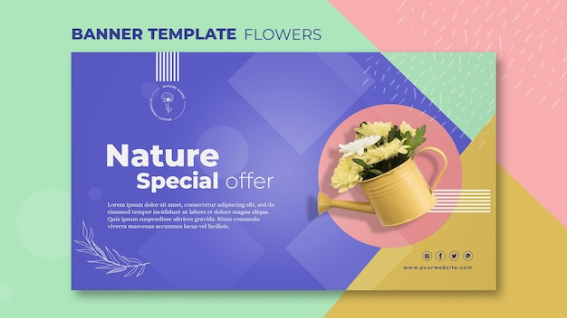 花のコンセプトバナーテンプレート