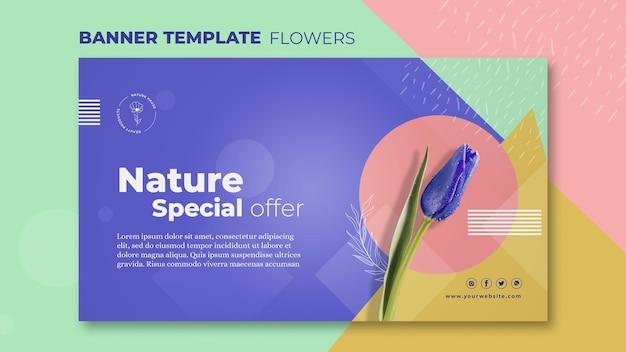 Flower concept banner template