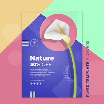 Flower concept flyer template