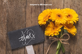 Flower concept with sign