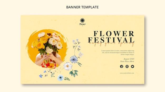 花祭りコンセプトバナーテンプレート
