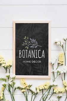 Макет цветочного магазина и домашнего декора