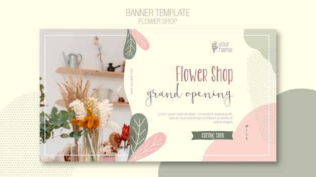 Flower shop banner template