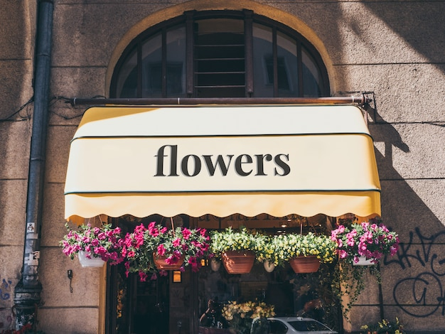 Flower shop mockup