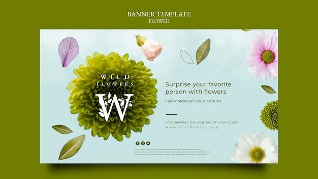 Flower store banner template