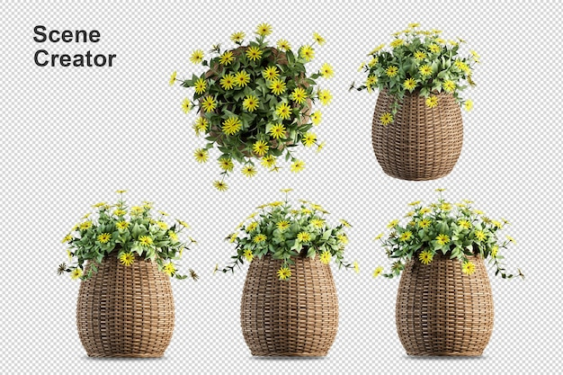 Цветочная ваза вид на создателя весенней сцены