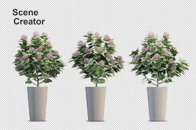 Flower vase view of spring scene creator Premium Psd
