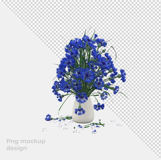 Цветы 3d рендеринг украшения и дизайн интерьера