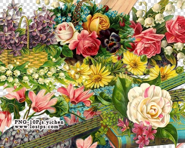 Flowers collage vector