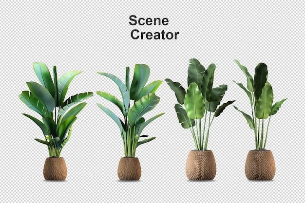 Цветы в вазе в 3d-рендеринге изолированы