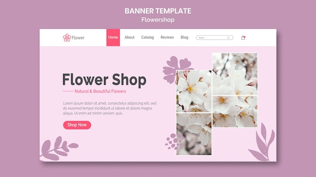 Flowershop banner template