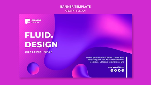 Fluid design banner template