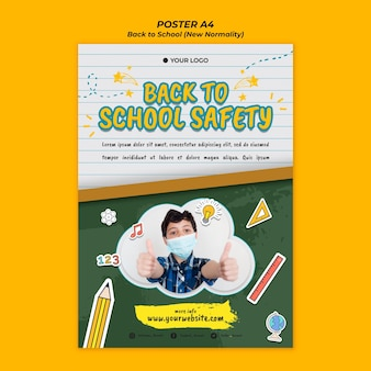 Flyer for back to school season
