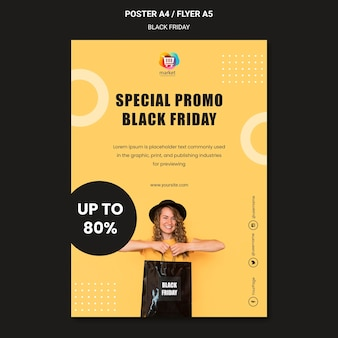 Flyer black friday template