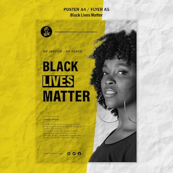 Flyer for black lives matter