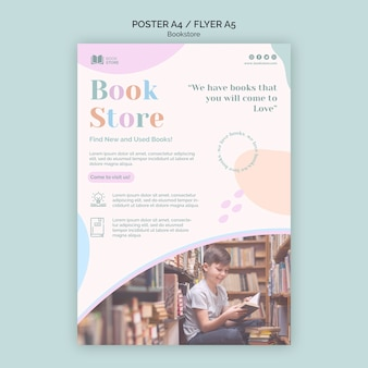 Flyer bookstore ad template