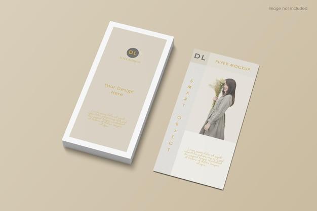 Flyer brochure mockup design on high angle