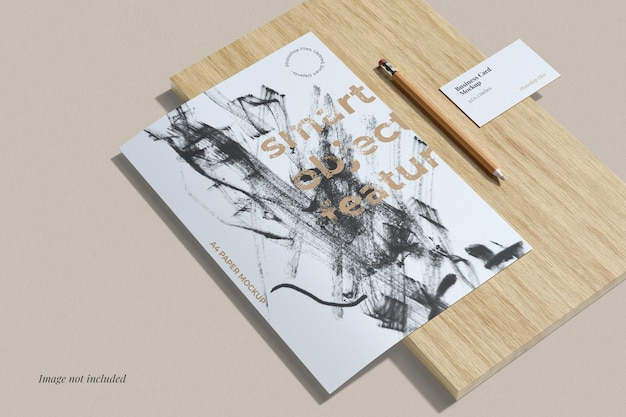 Flyer and business card mockups