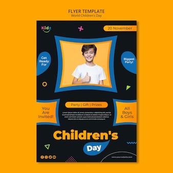 Flyer children's day template