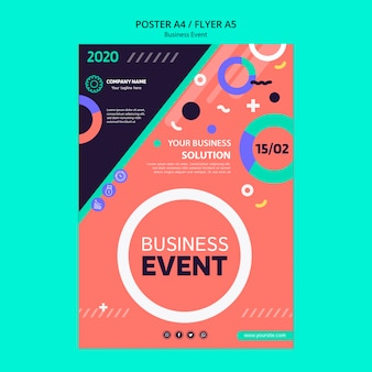 Flyer concept for business event