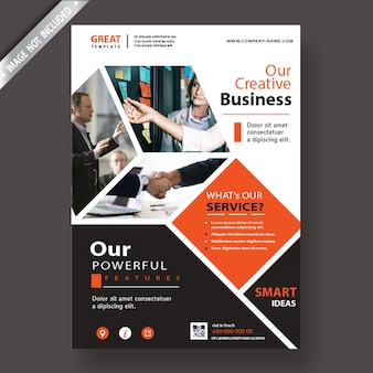 Flyer cover template