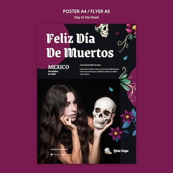 Flyer day of the dead template