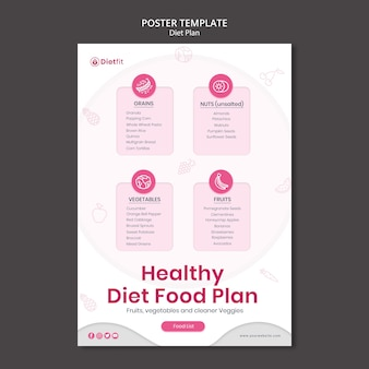 Flyer diet plan template
