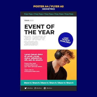 Flyer event of the year template