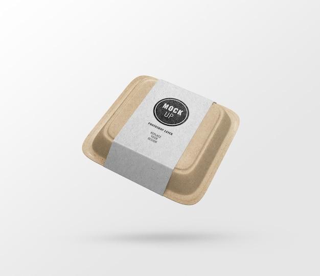 Флаер коробка для еды из бумаги