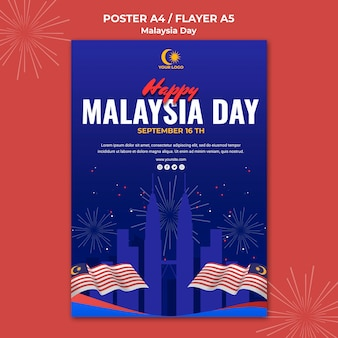 Флаер для празднования дня малайзии
