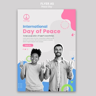 Flyer for international peace day celebration
