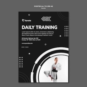 Flyer karate class template
