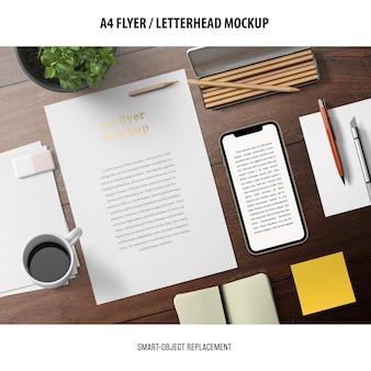Flyer or letterhead mockup