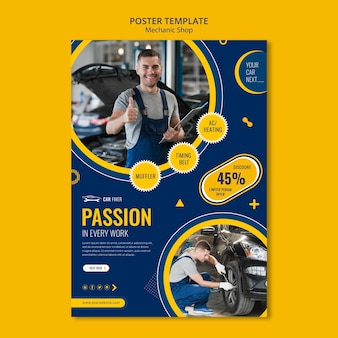 Flyer mechanic shop template