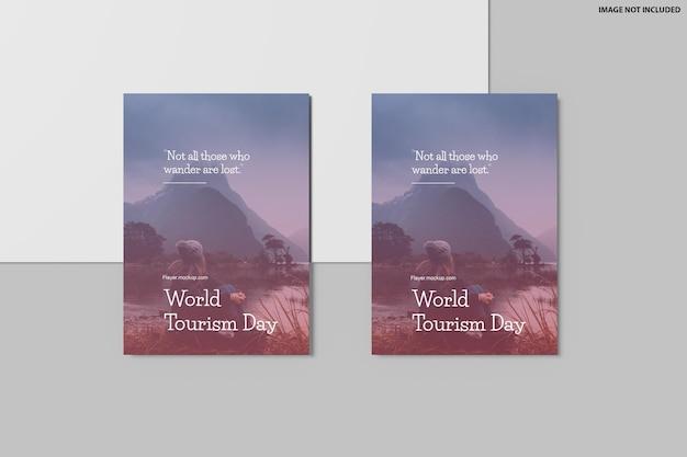 Flyer mockup design in 3d rendering