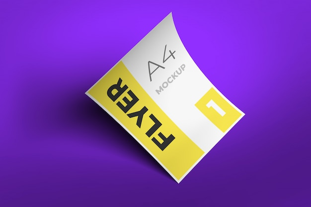 Flyer mockup template design