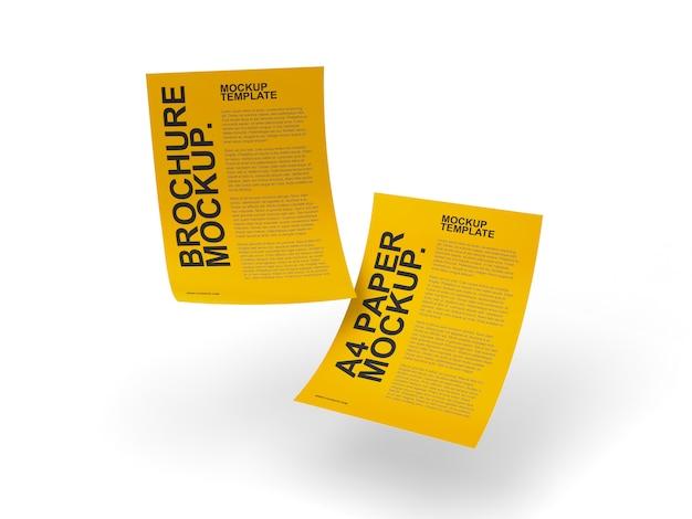 Flyer or pamphlet mockup