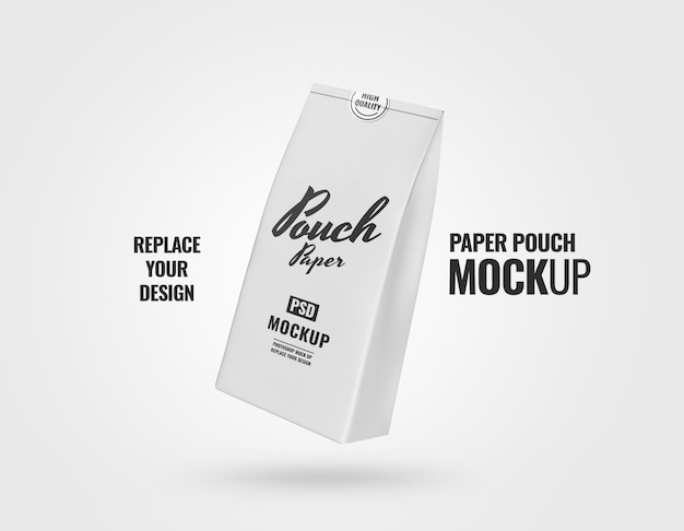 Flyer paper pouch mockup