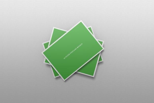Флаер открытка мокап