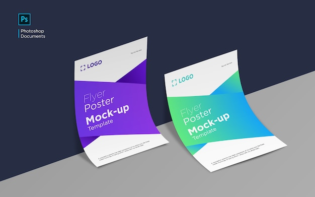 Flyer and poster mockup design template