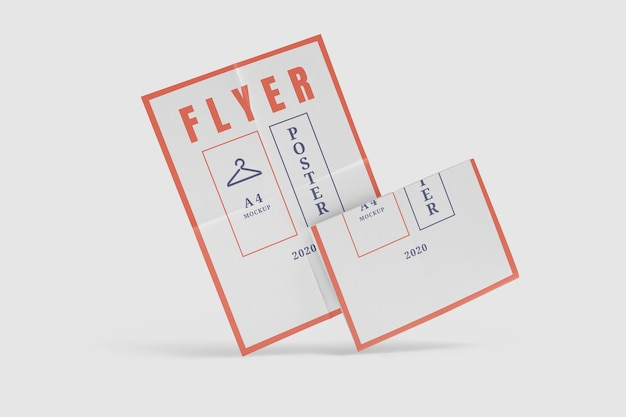 Flyer poster mockup isolated