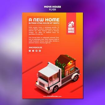 Flyer per servizi di trasferimento di residenza