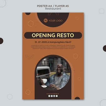 Flyer restaurant ad template