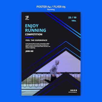 Flyer running competition template