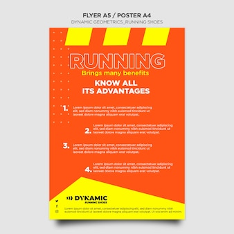Flyer running shoes template