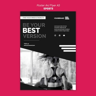Flyer sports ad template